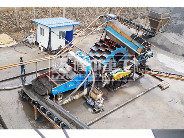 湖北十堰洗砂回收一体机调试运行现场–洗沙机械展示
